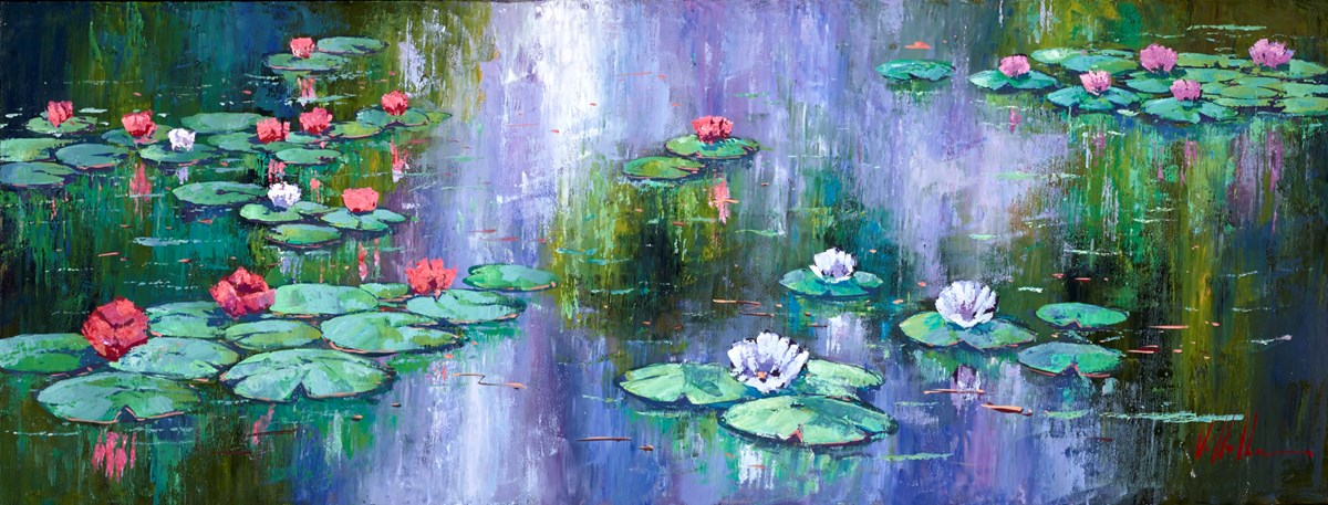 Flores de Lirio III by villalba -  sized 51x20 inches. Available from Whitewall Galleries